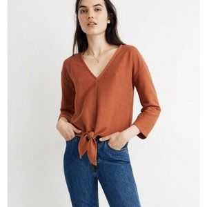 Texture & Thread Madewell Front Knot Top Size XL